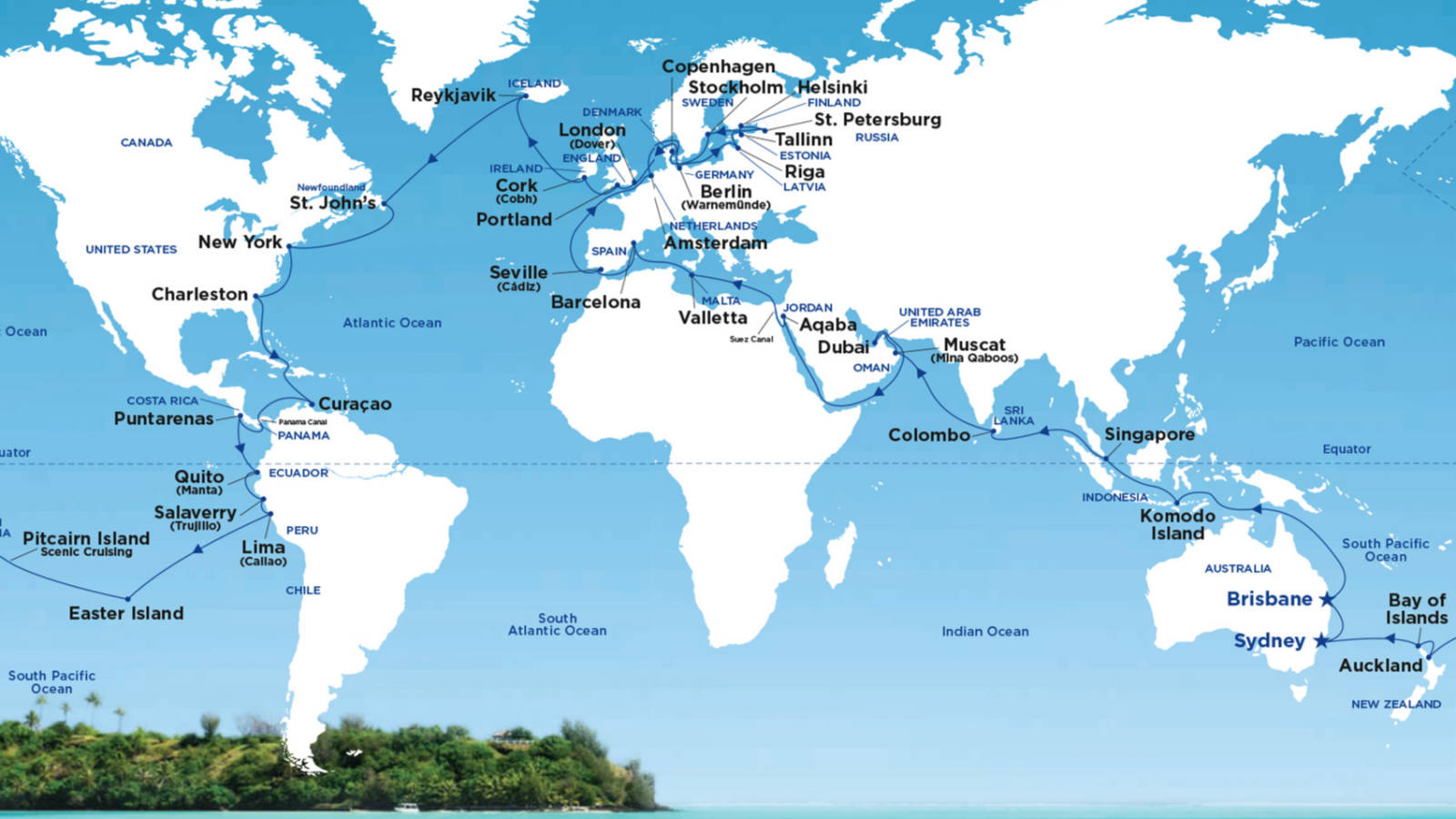 2019 World Cruise From Sydney Or Brisbane Travel At 60